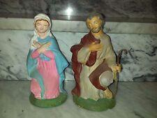 PRESEPE-PASTORE-MARIA E SAN GIUSEPPE  IN GESSO SERIE CM.30