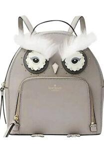 NWT Kate Spade Star Bright Owl Tomi Medium Leather Backpack Cityscape WKRU5674