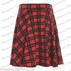Ladies Women's Tartan Check Stretchy Elasticated Skater Skirt Plus Size 14-28