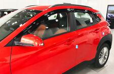Smoke Tinted Weather Shields Wind Deflectors 6p for 2017 ~ 2020 Hyundai Kona.