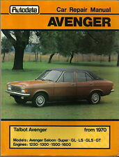 Talbot Hillman Avenger from 1970 Autodata Workshop Manual No 251