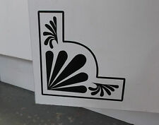 Pair of Art Deco Style Corner Wall Decals Decoration (25-04)
