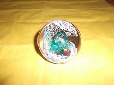 "Caithness Glass Paperweight. Scotland, Pastel, Numbered, Purple Green, 2.75""D"