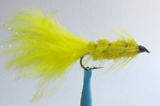 1 x Mouche Streamer Wooly Bugger Jaune H10 fliegen mosca fly tying truite yellow