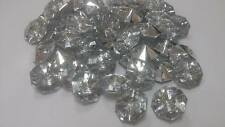 10pk Diamante Diamond Style Octagonal Buttons 25mm - Crafts, Upholstery, Sewing