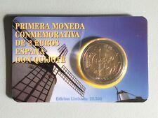 2 euro Gedenkmünze Spanien 2005 Don Quichotte in Coincard