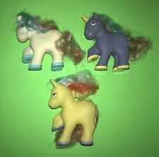 My Little Pony FAKIE Fake Remco 1989 Rainbow Hair LOVELY PETS Lot Of 3!