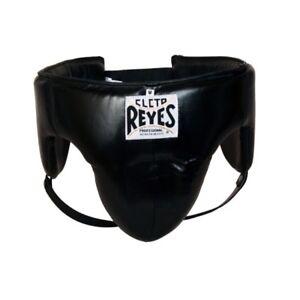 Cleto Reyes Fouler Schutz Schwarz Leder Leistenschutz Schutz Boxen Sparring
