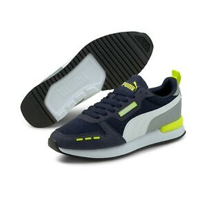 PUMA Men's R78 Peacoat Quarry Yellow Alert New without box Free Shipping