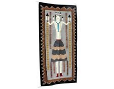 Winoa Joe, Large Yei, Navajo, Handwoven Rug, 73'' x 34 1/2''