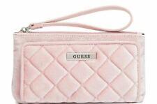 Guess Quilted Velvet Bella Cell Phone Wristlet Wallet Clutch Bag