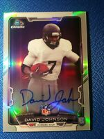 David Johnson 2015 Bowman Chrome Refractor Autograph Auto RC