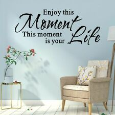 Quote Wall Decal Enjoy This Moment Life Sentence Sticker For Living Room Fashion