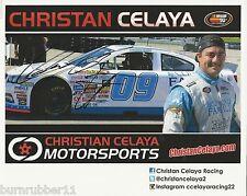 "SIGNED 2016 CHRISTAN CELAYA ""CLINICA FAMILIA"" #09 NASCAR K&N LM SERIES POSTCARD"