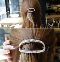 Fashion Women Acrylic Hair Clip Hair Claw Korean Crystal Ponytail Holder