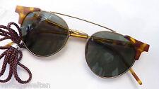 Eschenbach Panto Sonnenbrille Hornoptik braun Damen Herren 100% UV  size M