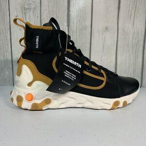 New Nike React Ianga The 10th Black White Wheat Brown AV5555-001 Multiple SZ