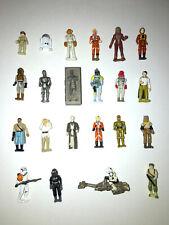 "VINTAGE Star Wars Micro Machines Action Fleet 1"" Mini Figures Galoob"