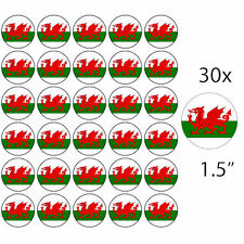 """WALES - 30 x 1.5"""" Rice Paper Cake Toppers - Free P&P WELSH DRAGON"""