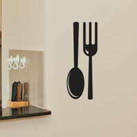 FORK AND SPOON KITCHEN WALL ART STICKER DECAL CAFE RESTAURANT DRINK MUGS c11