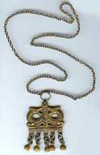 KALEVALA KORU FINLAND VINTAGE BRONZE DRAGONS DANGLE NECKLACE