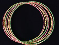 Color Neon Yellow GLOWS UNDER BLACK LIGHT, HULA HOOP Dance Manipulation Exercise