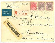 NEDERLAND 1922     AANGETEKEND  EXPRESSE  BRIEF DELFT   ZEER FRAAI