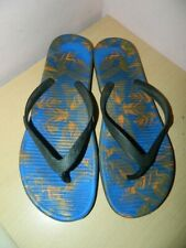 Nike black/blue slip on flip flop slides sandals uk 12 eur 46