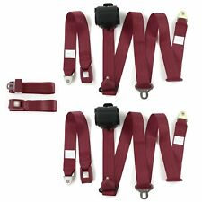 Nash Ambassador 1933-1957 Standard 3pt BURG Bench Seat Belt Kit - 3 Belts