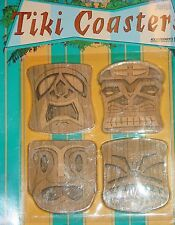TIKI COASTERS GUARD AGAINST EVIL SPIRITS TOTAL OF 4 New