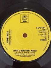 "JOHNNY NASH - 1976 Vinyl 7"" Single - ( WHAT A ) WONDERFUL WORLD"