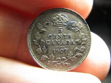 Canada 5 Cents 1907 coin Edwards VII
