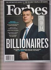 FORBES MAGAZINE BILLIONAIRES SPECIAL EDITION MARCH 2013, NEW NO LABEL.