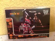 WWE X-PAC ROYAL RUMBLE 2002 FLEER COLLECTOR TRADING CARD #30 & HOLDER