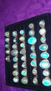 Natural Persian Turquoise Handmade Silver 925s Men's Ring  نيشابوري اصلي مكفول