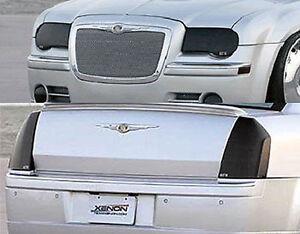 Fits 05-07 Chrysler 300C GTS Smoke Acrylic Headlight Taillight Covers 4pc Set