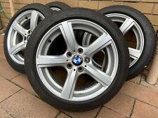 "GENUINE BMW 17"" Wheels Rims 95% BRIDGESTONE RUNFLAT Tyres 225 45 17"