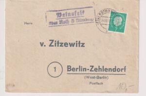 BERLIN, Mi. 182 EF, Landp. Weinsfeld ü Roth b Nürnberg, 24.10.59