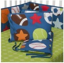 New Summersault 4-Piece Nursery Baby Crib Bumper -Sports, Basketball Football
