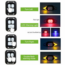 Bicycle LED Turn Signal Rear Taillight Wireless USB Charging Remote Control Lamp