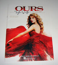 Taylor Swift Ours 9 Page Sheet Music FREE SHIP