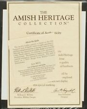 30032 The Pump Amos and Levi Original CoA & Papers | Amish Heritage Collection