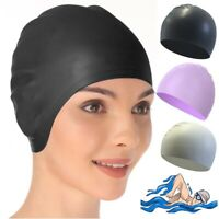 Unisex Silicone Swim Cap Swimming Pool Hat Waterproof Flexible Shower Hats