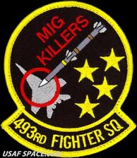 USAF 493rd FIGHTER SQ - MIG KILLERS - RAF Lakenheath, ENGLAND - ORIGINAL PATCH