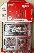 Milwaukee 48-32-4082 Shockwave 100 piece Impact Driver Bit Set in Packout Case