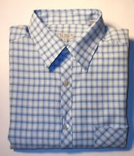 TED BAKER MULTI COLOR PLAIDS L/S FINE POLYESTER DRESS SHIRT. TBK7136D4