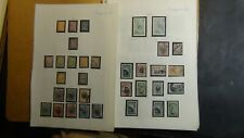 Bulgaria Classics stamp collection on homemade pages + w/ est. 700 or so