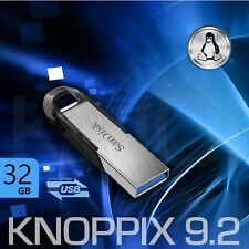 Knoppix 9.2 | Linux Live-System 32GB USB-Stick | PC-Datenrettung -SystemCheck