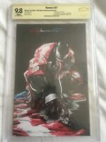 VENOM #27 CRAIN SIGNED SECRET DARK VIRGIN CBCS 9.8 COVER