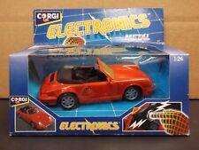 1991 Corgi Electronics Metal 1:24 Porsche 911 Convertible In Red. Battery Dead